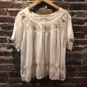 Free People gently used lace top